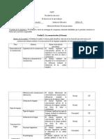 Listado de Temas y Subtemas para prueba formal