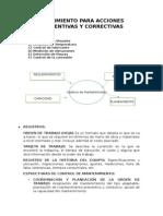 Mantenimiento - Seguimiento Para Acciones Preventivas y Correctivas - Mantenimiento