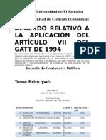 Acuerdo Relativo a La Aplicación Del Artículo VII Del GATT