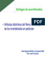 Caracteristicas de Los Invertebrados