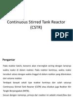 7_8_Continuous Stirred Tank Reactor (CSTR)