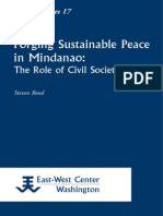 Role of Civil Society in Pursuing Peace in Mindanao