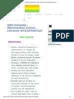 Delhi Sultanate _ Administration, Culture, Literature, Art & Architecture Iasmania.pdf
