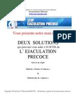 Extrait du Guide Méthode Condensée Ejaculation Précoce