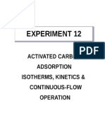 Activated Carbon Adsorption, Isotherms, Kinetics Continuous-flow Operation