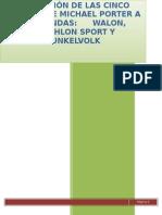 Evaluación_de Las Cinco Fuerzas de Michael Porter _en Las Tiendas_walon_triathlon Sport_dunkelvolk