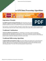 GPS Data Processing