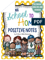 School to Home Positive Notes Freebie