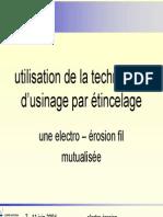 Pres Electro Erosion Principe