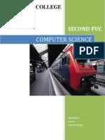 Computer Science Manual for 2nd PUC, Karnataka board