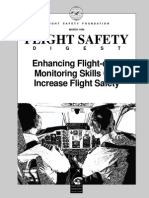 Enhancing flight crew monitoring skills can enhance flight safety