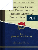 Elementary French the Essentials of French Grammar With Exercises 1000090314