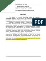 Analyzing Discourse  analyzing discourse by halliday's transitivity systemby Halliday's Transitivity System