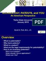 TSU Patent Law Presentation 011515