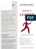 Genratec - Being a Leader 07 Series - A4 Flyer