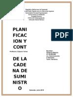 Planificacion y Control de Suministro