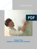 Support Dyslexic Trainees and Teachers 1