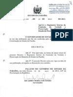 DEC. 33.906- REGIMENTO COMISSAO DA VERDADE DA PARAIBA