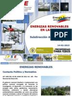 Energias Renovables en Las Zni