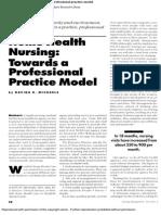 Home Health Nursing Towards a PPM