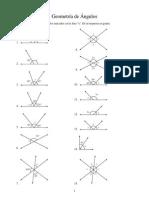 Práctica de Angulos (geometría plana)