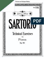 Sartorio - Technical Exercises for Piano