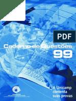 CADERNO DE QUESTÕES DA UNICAMP