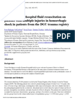 Influence of Prehospital Fluid Resuscitation on Patients With Multiple Injuries in Hemorrhagic Shock in Patients From the DGU Trauma Registry