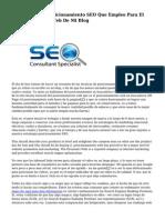 Las 5 Tecnicas posicionamiento SEO Que Empleo Para El Posicionamiento Web De Mi Blog