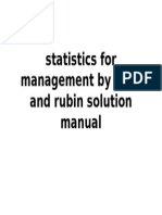 Statistics for Management by Levin and Rubin Solution