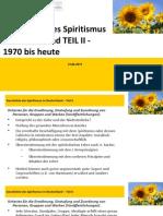 Geschichte Des Spiritismus in Deutschland 2015 TEIL II