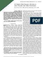 Utility-Based Adaptive Radio Resource Allocation In