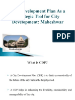 City Development Plan As a Strategic Tool for City Development
