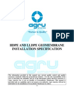 HDPE LLDPE Geomebrane Installation Manual Revised 2011