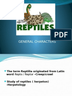 General Characters of Class Reptilia