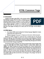 HTML Common TAgs