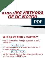 Starting Methods of DC motors