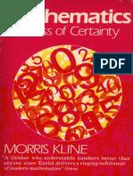 Morris Kline-Mathematics, The Loss of Certainty-Oxford University Press (1980)