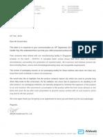 Abbot Letter on PediaSure Adelteration