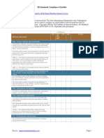 IIA Standards Compliance Checklist