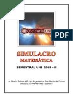 SIMULACRO 01  - MATEMÁTICA