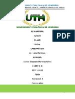 HOMEWORK Module 3-TEMPLATE Pronounciation - Grammar