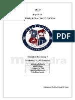 Mahindra Reva IMC Planning Report