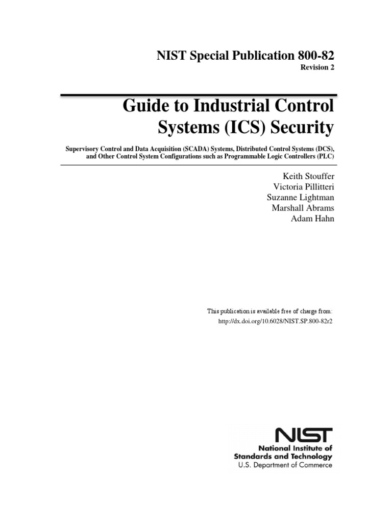 Guide to Industrial Control Systems (ICS) Security - NIST sp