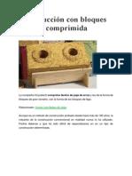 Construcción Con Bloques de Paja Comprimida