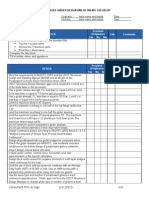 Prestressed Girder Checklist