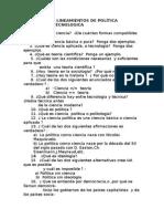 Balotario de Lineamientos de Política Cientifica y Tecnologica