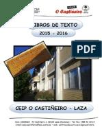 Libros de Texto 2015-16 Ceip o Castiñeiro - Laza (Ourense)