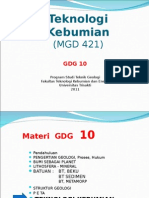 GDG 10 Teknologi Kebumian