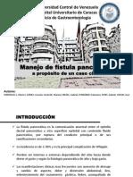 Manejo de Fístula Pancreática